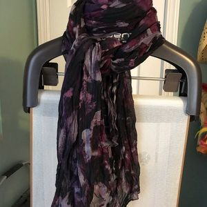 Black and purple scarf